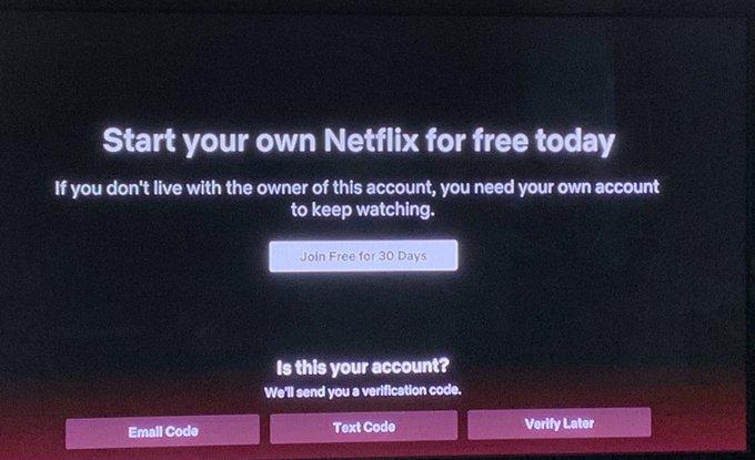 Netflix Tests cracking down on password sharing